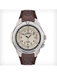 Men's T479029J Expedition Easy Set Alarm Brown Leather Strap Watch