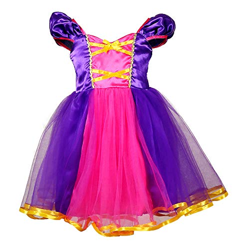 Tutu Dreams Princess Rapunzel Cosplay Costume for Teen Girls Birthday Party Special Occasion Dress Up (6X-7, Rapunzel)]()