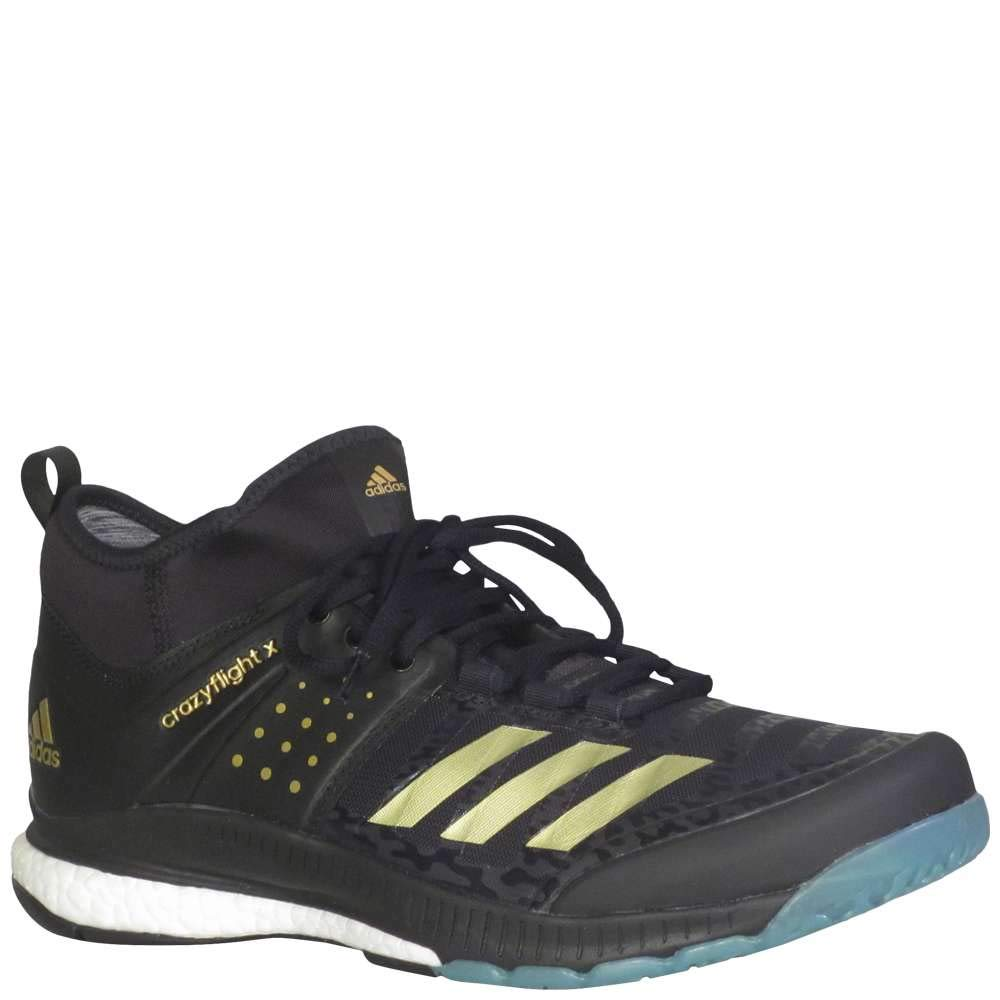 9591aa12000 adidas Men's Crazyflight X Mid Volleyball Shoes Core Black, Gold Met, Icey  Blue F17 (11 M US)