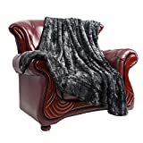 Faux Fur Bed Blanket Soft Cozy Warm Fluffy Variation Print Minky Throw Blanket