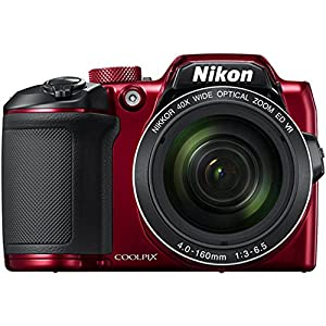 Beach Camera Nikon COOLPIX B500 16MP 40x Optical Zoom Digital Camera w/Built-in Wi-Fi NFC & Bluetooth (Red) + 64GB SDXC Accessory Bundle from Nikon