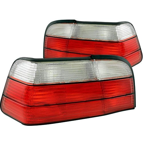 AnzoUSA 221215 Red/Clear Taillight for BMW 3 Series - (Sold in (Euro Altezza Carbon Fiber)