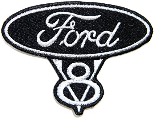 V8 Motors Ford (FORD V8 Vintage RACING Logo Sign Car Patch Iron on Applique Embroidered T shirt Jacket Costume BY SURAPAN)