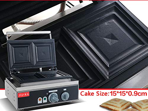 Hanchen Instrument 2 Pces Commercial Electric Panini Press Oven Sandwich Maker Pan Bread Toaster Waffle Iron (FY-113A 110V) by Hanchen Instrument® (Image #4)