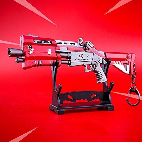 Amazon.com: mankecheng games metal 1/6 Metal Red Shotgun Gun ...