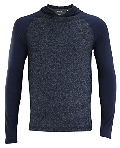Reebok Men's SpeedwickPerformance Long Sleeve Hooded Tee,Dark Navy XX-Large -