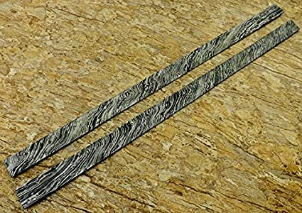 Amazon com : Hand Forged Damascus Steel 2 BILLETS BAR Knife