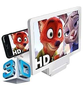 Amazon.com: White Smart phone 3D Screen Enlarger Magnifier ...