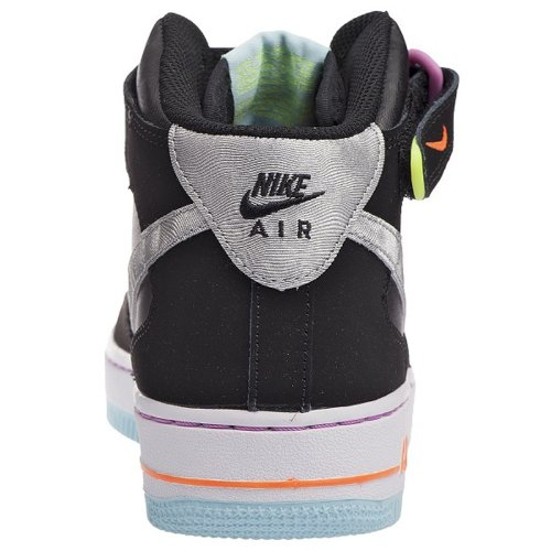 36 Mid Taille Air Force Nike negro gris Gs Blanco 5 Coleur 1 wvB7Sqt