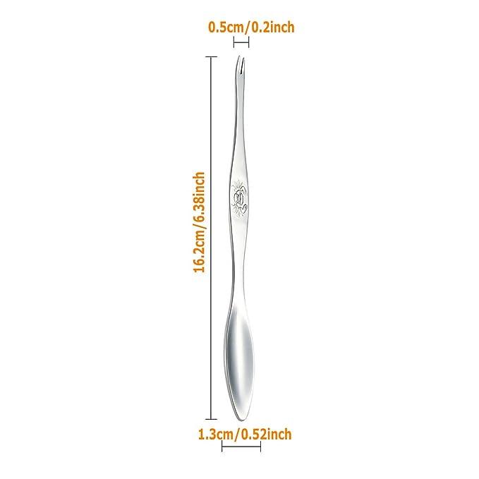 Incluye 1 Galleta Y 4 Tenedores,Azul,A Cubiertos Para Marisco Acero Inoxidable 304 Adecuado Para Langosta Mariscos