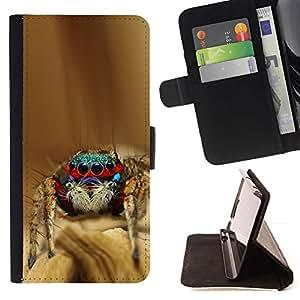 Momo Phone Case / Flip Funda de Cuero Case Cover - Enfriar Spyder Bro - Samsung Galaxy Note 5 5th N9200