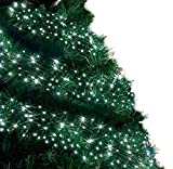 Cluster Lights 720 LED Bright White Tree Lights Indoor and Outdoor Use Christmas String Lights 8 Modes with Memory & Timer function,Mains Powered Fairy Lights 9m/30ft Lit Length with 10m/33ft Lead Wire GREEN CABLE - 2 Year Warra