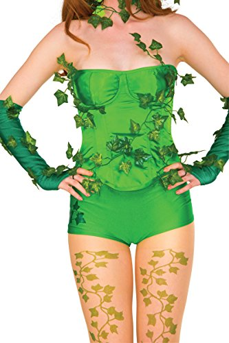 Poison Ivy Corset (Rubie's Women's Deluxe Corset, Poison Ivy, Medium/Large)