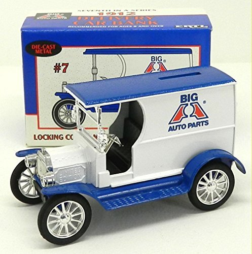 Car Delivery Bank (Ertl Die Cast Metal Big A Auto Parts 1912 Delivery Car 1/25 Scale Locking Coin Bank)