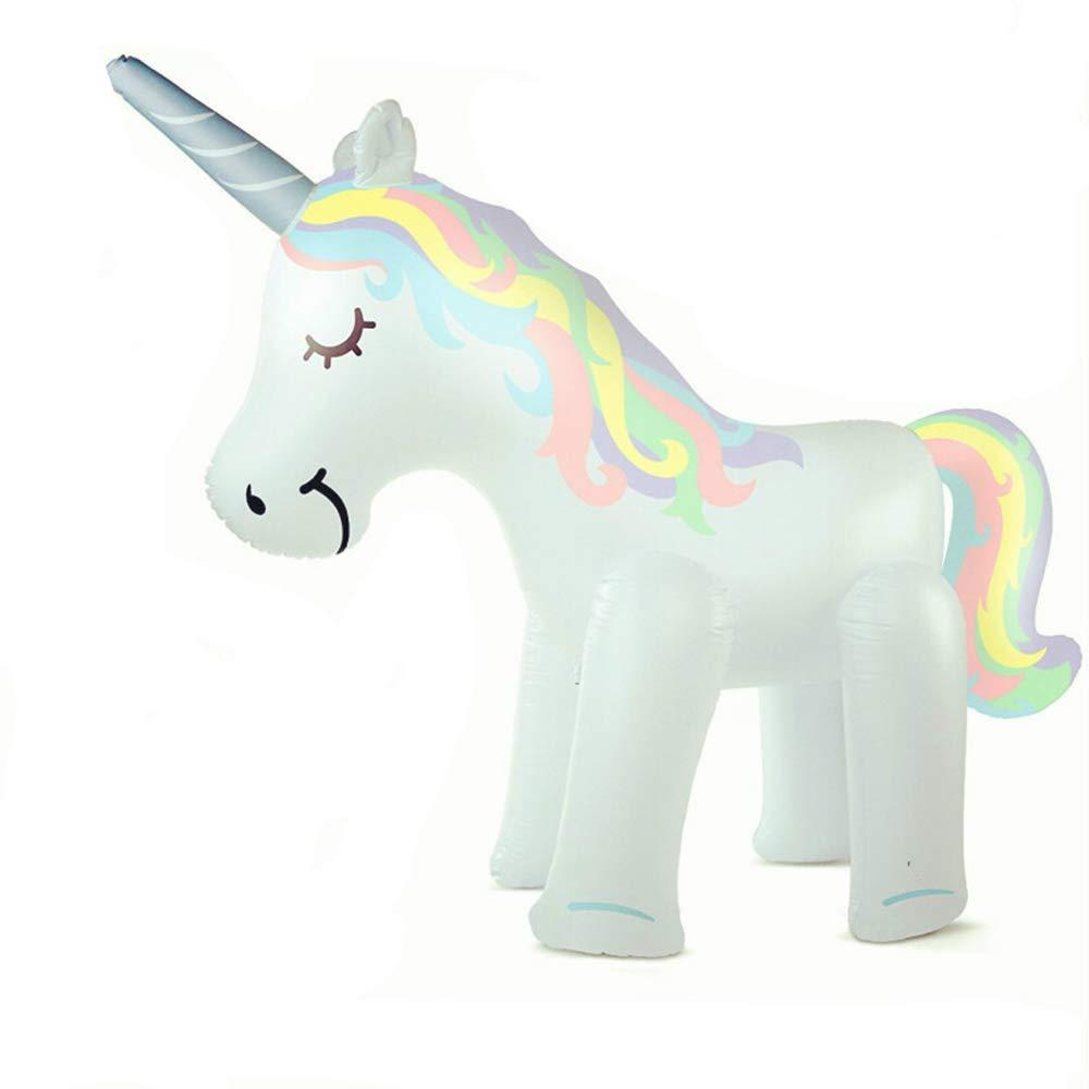 Mitrc Summer Sprinkler Toy, PVC Kids Sprinkler Inflatable Unicorn for Baby Yard Summer Water Spray Toy Unicorn Sprinkler