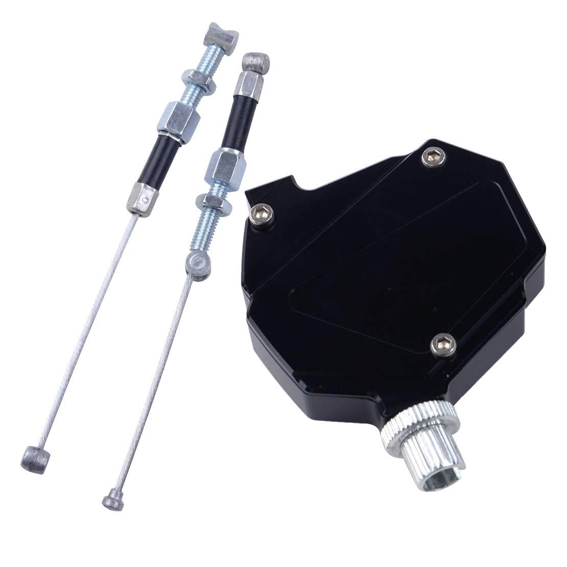 Système de câble de traction facile avec amplificateur d'embrayage et commande numérique par câble noir