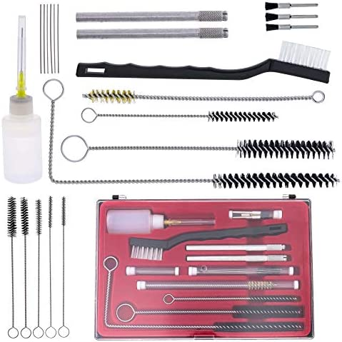 Spray Gun Cleaner Practical Cleaning Kit Assorted Airbrush Durable Nozzle F2X4