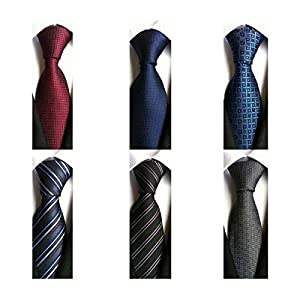 WeiShang Lot 6 PCS 4 inch Classic Men's Wide Tie Necktie Woven JACQUARD Neck Ties