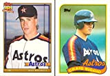 #4: Jeff Bagwell and Craig Biggio Baseball Rookie Card Lot of 2 - 1991 Topps Traded Jeff Bagwell Rookie Card and 1989 Topps Craig Biggio Rookie Card