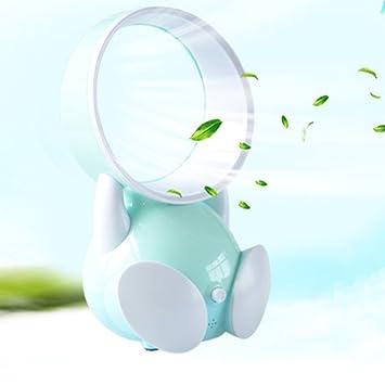 Gut VORCOOL Mini Blattloser Ventilator Tragbare Elektrische Luft Lüfter  Flüsterleiser USB Tischventilator Für Kleinkinder (Blau)