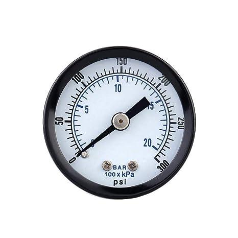 Probador metro 0-20bar 0-300psi Mini Indicador de presión del manómetro del compresor