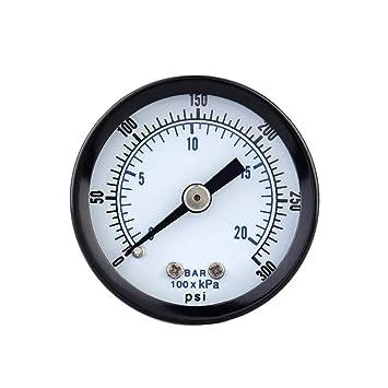 Probador metro 0-20bar 0-300psi Mini Indicador de presión del manómetro del compresor de aire neumático hidráulico de presión de fluido Instrumento de ...