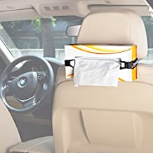 TFY Car Visor / Headrest Facial Tissues Boxs Strap Holder (white)