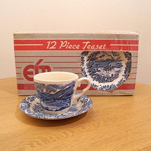 - EIT LTD 12 (6+6) pieces tea set || English Ironstone Ltd Stoke-on-Trent England || 6 people || Rydal water