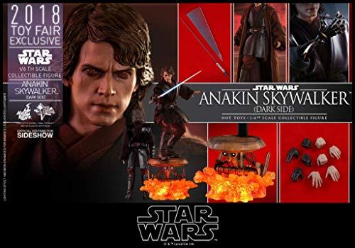 (Hot Toys Star Wars Episode III MMS Action Figure 1/6 Anakin Skywalker Dark Side 2018 Toy)