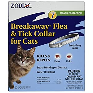"Zodiac Breakaway Flea and Tick Collar for Cats, 13"" 29"