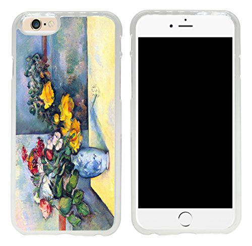Rikki Knight Paul Cezanne Art Still Life of Flowers in a Vase Design iPhone 6 Case Cover-Clear