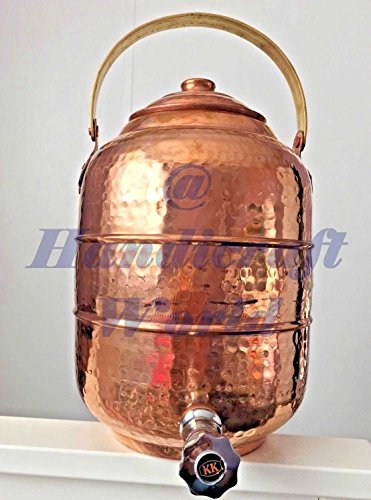 Copper 3.6 gal 13.6 liter Water Pot Dispenser Storage Tank With Tap Kitchen by Handicraft-World