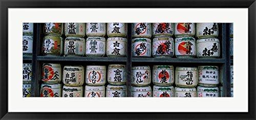 Stack of jars on racks, Tsurugaoka Hachiman Shrine, Kamakura