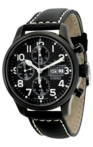 Zeno-Watch Mens Watch - NC Pilot Chrono black - 9557TVDD-bk-a1