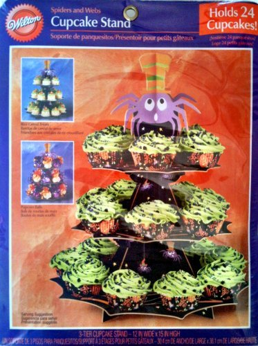 Halloween Spiders and Webs 3-tier Cupcake -