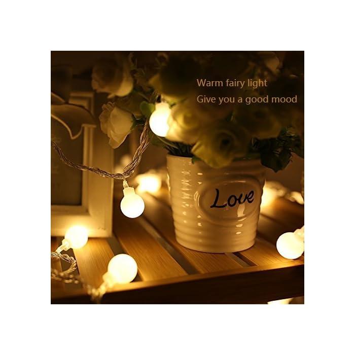 51cSYpj72lL ❤【Diseño Especial de la Forma del Bulbo】: Friegue el bulbo esférico del diseño superficial, el diámetro es solamente 19 mm, Mini luz más suave del tamaño. ❤【Mando a Distancia】: Equipado con un ir de 13 teclas de control remoto, puede cambiar diferentes efectos de iluminación, el ajuste de la hora, ajustar el brillo de la luz. ❤【Ocho Efectos de Iluminación】: Incluyendo la combinación, en onda, secuencial, Slo glo, persiguiendo/Flash, lento se descolora, centelleo/flash, constante encendido, satisfaciendo le varias necesidades y traerle una variedad de disfrute visual.