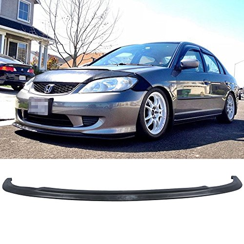 04-05 Honda Civic 2/4 Door Type A Urethane Add-On Front Bumper Lip Spoiler Bodykit