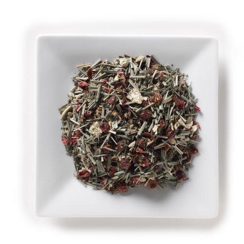 Mahamosa Ginger Spice Mate Tea 8 oz - Loose Leaf Herbal Spice Tea Blend (with green mate, lemon grass, rose hip peel, ginger pieces, cardamom, black pepper, basil, rose petals, Roman chamomile)