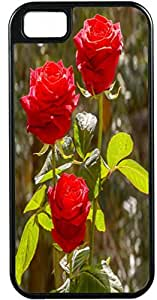 Blueberry Design iPhone 4 iPhone 4S Case Three Red Roses Flowers Design