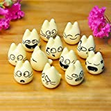 Figurines Miniatures - 2018 Landscape Doll Popular Cute Diy Garden 12 Expression Cartoon Home Decorations - Miniaturs Beetls Iplehouse Dolls Flamingoes Decoration Stumps Fairy Gnome Minifee