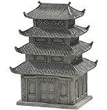 Mini Zen Garden Ceramic Small Worlds Pagoda Figurine