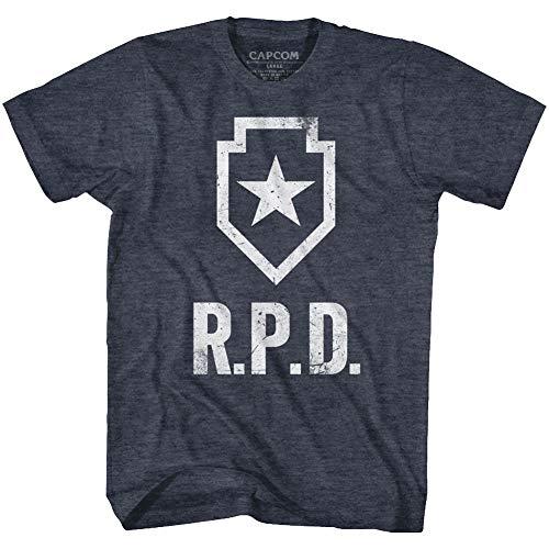 Resident Evil Horror Syfy Film Video Game Raccoon Police Department T-Shirt Tee Navy