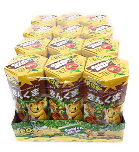 EGO Little Golden Bear Cream Filled Biscuits Chocolate Flavor (Pack of 12)
