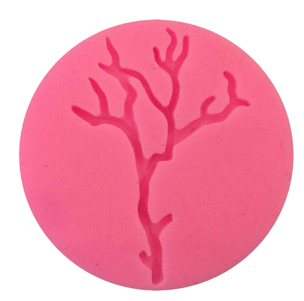 Polymer Clay Cupcake Topper Cngstar Halloween Tree Branch Style Fondant Candy Silicone Mold for Sugarcraft Cake Decoration Soap Wax Making Crafting Projects
