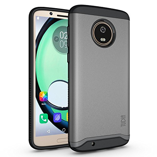 Motorola Moto G6 Case, TUDIA Slim-Fit Heavy Duty [Merge] Extreme Protection/Rugged but Slim Dual Layer Case for Motorola Moto G6 (Metallic Slate)