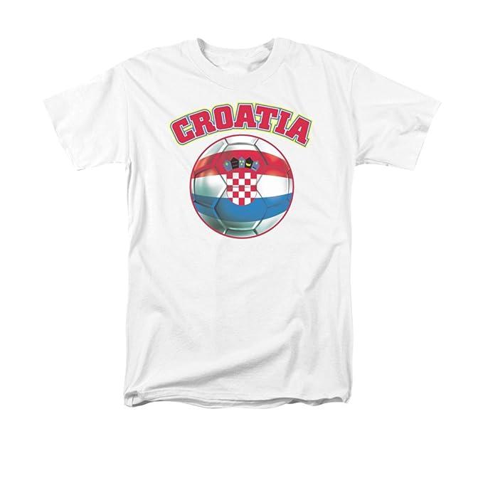 Croacia orgullo bandera de balón de fútbol adultos camiseta