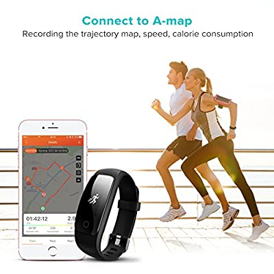 Fitness Tracker with Heart Rate Monitor, Runme Activity Tracker Smart Watch with Sleep Monitor, IP67 Water Resistant Walking Pedometer Band with Call/SMS Remind for iOS/Android Smartphone