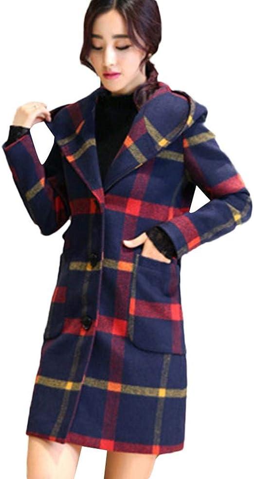 Redshop Womens Ladies Fashion Casual Lapel Woolen XL Casual Long Coat