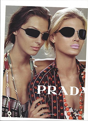 MAGAZINE PAPER ADVERTISEMENT With Daria Werbowy For 2004 Prada - Daria Sunglasses