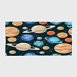 iPrint Cotton Microfiber Hotel SPA Beach Pool Bath Hand Towel,Galaxy,Cute Galaxy Space Art Solar System Planets Mars Mercury Uranus Jupiter Venus Kids Print,Multi,for Kids, Teens, and Adults